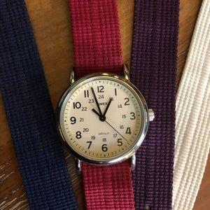 Timex Weekender 38mm fabric strap watch